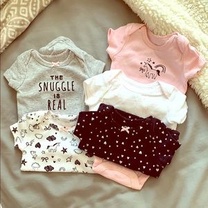 5-piece Newborn Onesie set